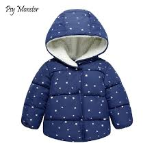 kids winter jacket thick velvet girls boys coat warm childrens jackets cotton infant clothing padded jacket
