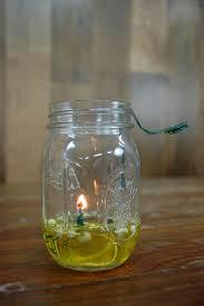 mason jar olive oil lamp