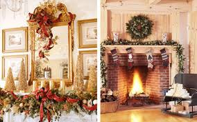 Fireplace Mantel Decor Ideas Home Modest Christmas Decorations On With And