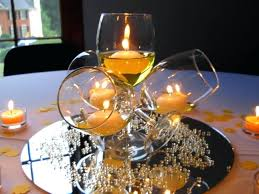 wine glass centerpieces for weddings yellow centerpiece birthday party with glasses unique ideas big wedding