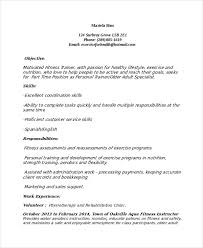 Modern Resume For Instructors Personal Trainer Resume Template 7 Free Word Pdf