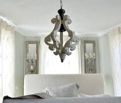distressed white wood chandelier in only pendant orb