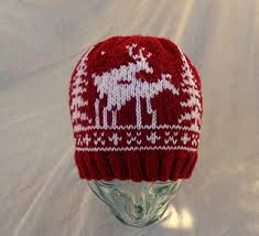 Ravelry Bayseaknits Bay Seas Red White 2 Fornicating Deer Hat
