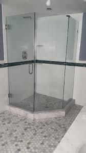 half hexagon shower enclosure shower