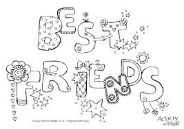 Anime Bff Coloring Pages Quotes Best Friend Heart Colouring To Print