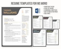 Unique creative Word resume template - Resumes