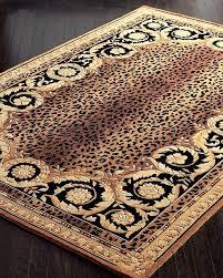roman leopard rug 4 round animal print rugs at