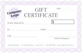 Waste Free Gift Certificates Email Gift Certificate Template