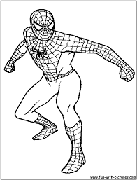 Small Picture Spiderman Coloring Pages Free Printable Colouring Pages for kids