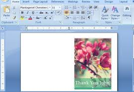 Word Cards Templates Thank You Card Templates For Word
