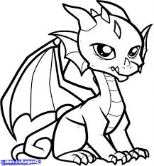 Easy Draw Dragon To Dragons Coloring Pages Page Pictures Of Drawing