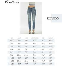 Kancan Jean Size Chart Kan Can Womens Mid Rise Super Skinny Jeans Distressed Kc5055