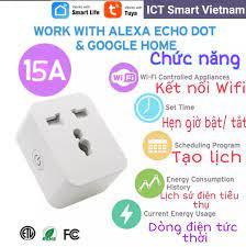 Ổ cắm Wifi Tuya 10A/15A thông minh chuẩn Universal, phù hợp tất cả các loại phích  cắm - Công tắc thông minh