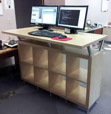 Full Size of Desk & Workstation, Best stand up desk movable desk standing  computer workstation ...