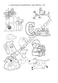 Help your preschooler learn the alphabet and practice letter c sounds all while having fun and coloring! Phonics Letter B And C Esl Worksheet By Joannaturecka