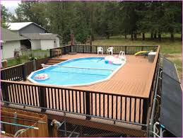 Wooden Pool Decks Above Ground Swimming Pool Design Using Wooden Pool Deck Design