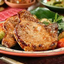 golden juicy pan fried pork chops