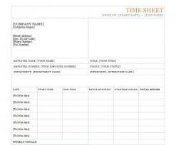 Workers Job Timesheet Template Word Templates