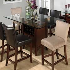 tabacon counter height dining table wine: tabacon counter height gathering table with wine storage rack