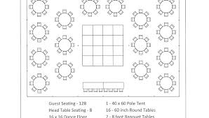 wedding table layout templates seating