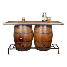 Wine barrel bar plans Wood Double Wine Barrel Bar Napa East In Wine Barrel Furniture Wine Barrel Designs By Napa East