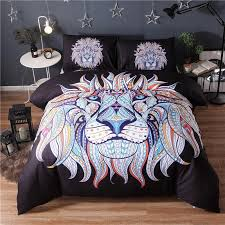 black and white lion duvet cover indian style queen king reactive printed 3d lions quilt cover bed set pillowcase double bedding canada 2019 from copy03