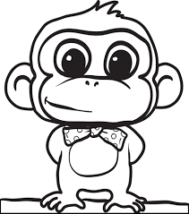 Absolutely Ideas Monkeys Coloring Pages Free Printable Cartoon