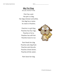 Comprehension Worksheet - My Pet Dog