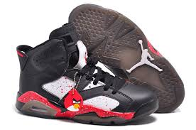 jordan shoes for girls 2014 black and white. cheap new air jordan 6 custom angry birds black white red specked for sale 2014 shoes girls and