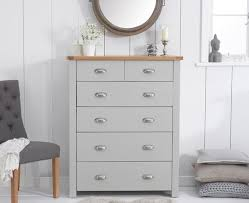 sandringham oak grey 4 2 bedroom chest of drawers
