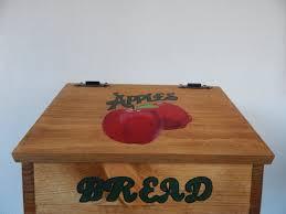 Red Apple Kitchen Decor Bread Box Apple Bread Box Apple Kitchen Decor Apple Decor