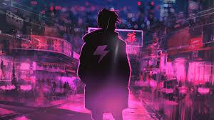 neon, pink, artwork, digital art, Terry ...