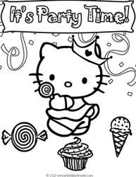 Small Picture Hello Kitty Birthday Coloring Pages to Print Printable Treats