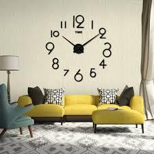 living room wall clocks. Livingroom:Wall Clock Living Room Engaging Mosunx Business Diy Home Decoration Large Clocks Position In Wall N
