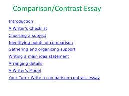 comparison contrast essay topics esl comparison contrast essay paragraph writing