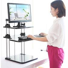 ergonomic height adjule standing desk computer sit stand