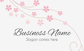 Business Card Flowers