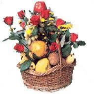ping seasonal fruits with red roses for chennai delivery fresh flowers and others gifts delivery to chennai