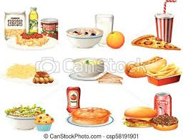 american food clipart. Delighful Clipart A Set Of American Food  Csp58191901 To Clipart