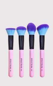 spectrum 4 piece pink contour brush set