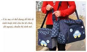 Bộ Túi Sách Mẹ Và Bé Cao Cấp 3 Chi Tiết - Trẻ Sơ Sinh & Trẻ