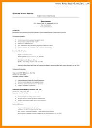 Objective For Graduate School Resume Examples Grad School Resume Sample 36