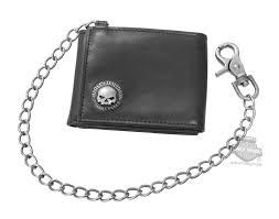 Harley-Davidson <b>Men's</b> Skull Concho Z Fold RFID <b>Genuine Leather</b> ...