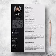 Modern Resume For Freshmen Modern Resume Template Design Resume Template Emily Jackson