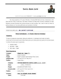 Project Officer Cv Safety Officer Cv 21 4 2015