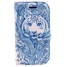 899 Tetování Tygr Vzor Pu Kožené Pouzdro S Ochranou Displeje A Stylusu A Kabel Pro Samsung Galaxy S3 Mini I8190