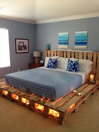DIY Pallet Bed with Lights: