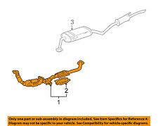 car & truck exhaust for toyota sienna ebay 2003 toyota sienna exhaust diagram at Sienna Exhaust Diagram