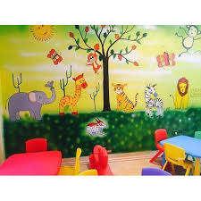 Small Picture Wall Art Painting Kids Class Room Wall Art Painting Manufacturer