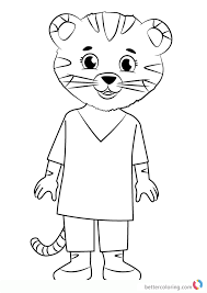 Mom Tiger From Daniel Tiger Coloring Pages Free Printable Coloring